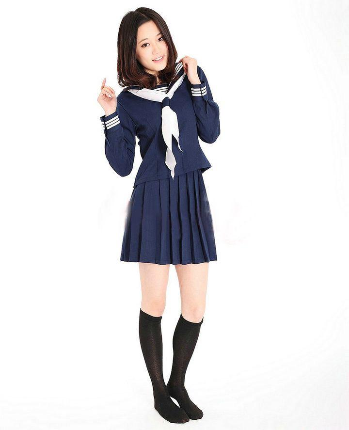 New 2013 Japanese School Girl Uniform Cosplay Costume ...