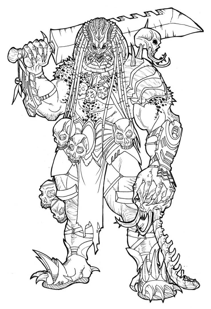 Predator Mask Coloring Pages