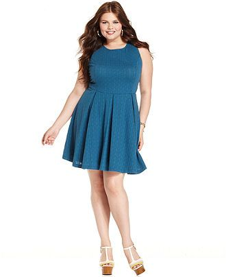 Jessica Simpson Plus Size Dress, Sleeveless A-Line - Plus Size Dresses - Plus Sizes - Macy's