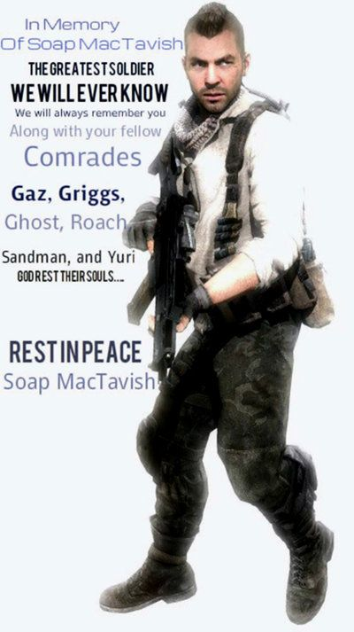 In Memory Of John Soap Mactavish By Lordhayabusa357 On Deviantart Call Of Duty Zombies Call Of Duty Call Off Duty