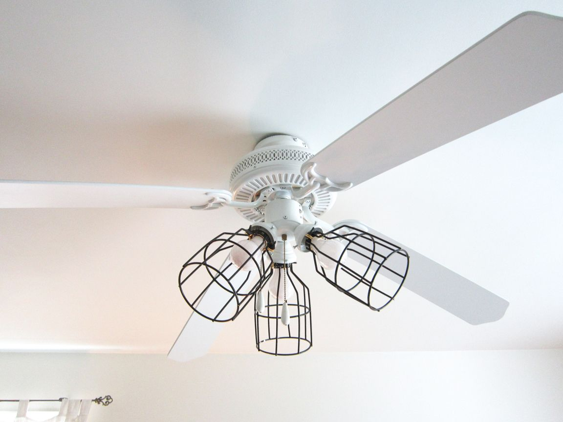 Diy Cage Light Ceiling Fan Ceiling Fan Light Cover Diy Ceiling