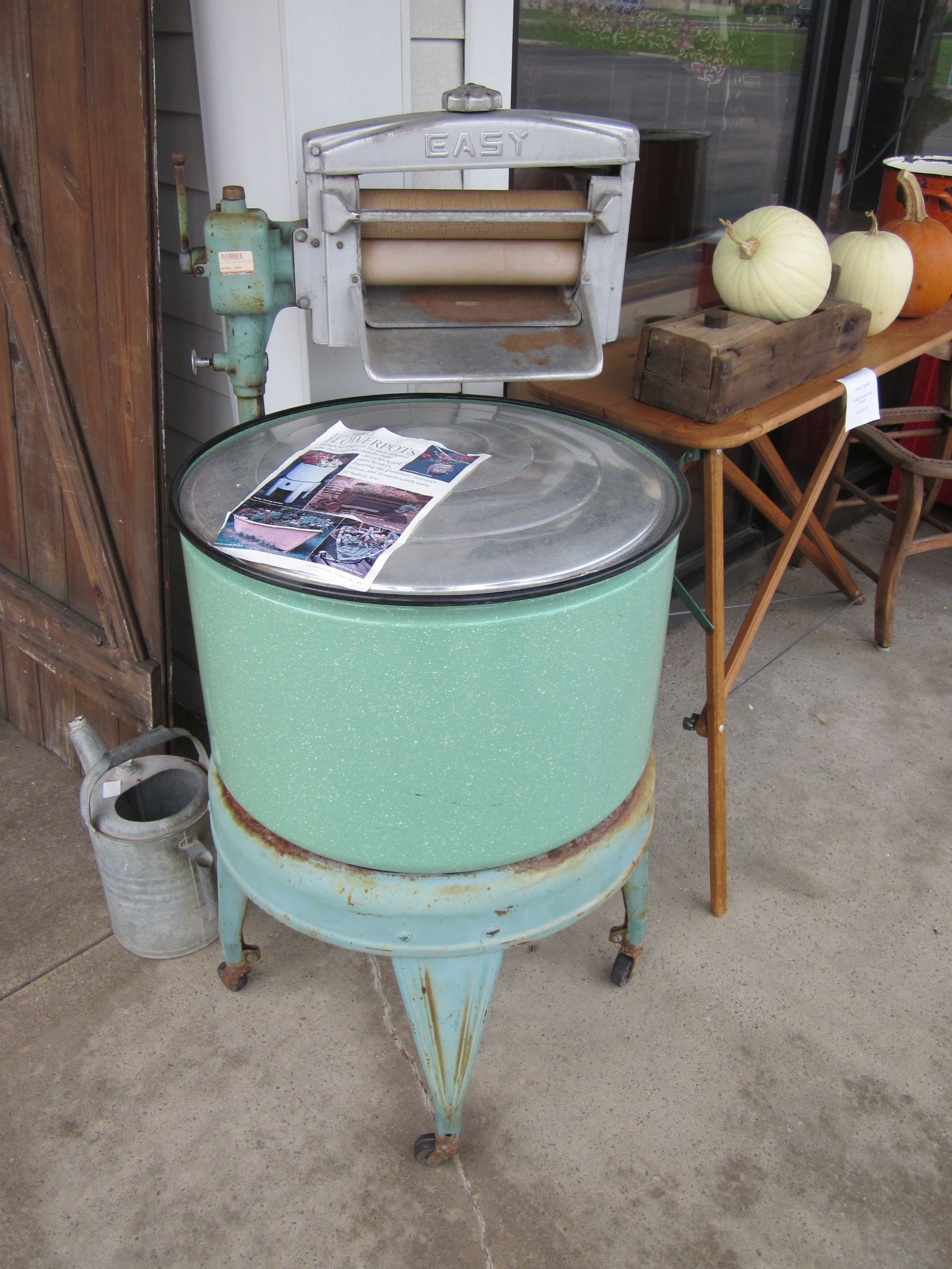 Old Fashioned Wringer Washer Can Be Used As A Porch