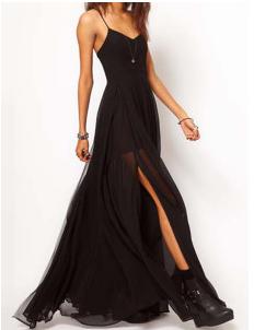 Vestido de gasa en negro, 42,99€ https://www.facebook.com/issin.belle?ref=hl