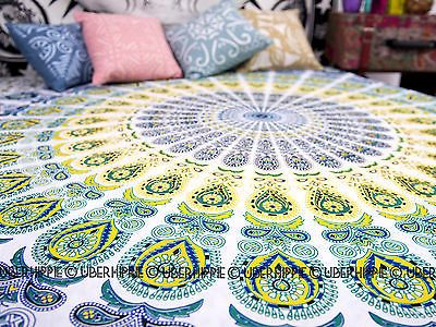 Queen Indian Mandala Tapestry Wall Hanging Bedspread Hippie Bohemian Bed Cover