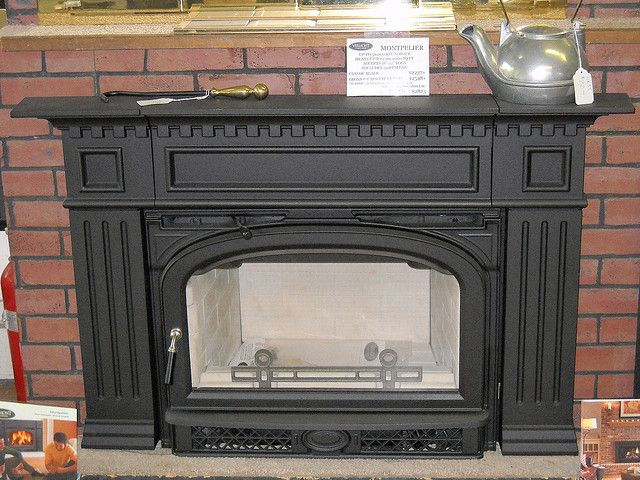 wood burning fireplace insert