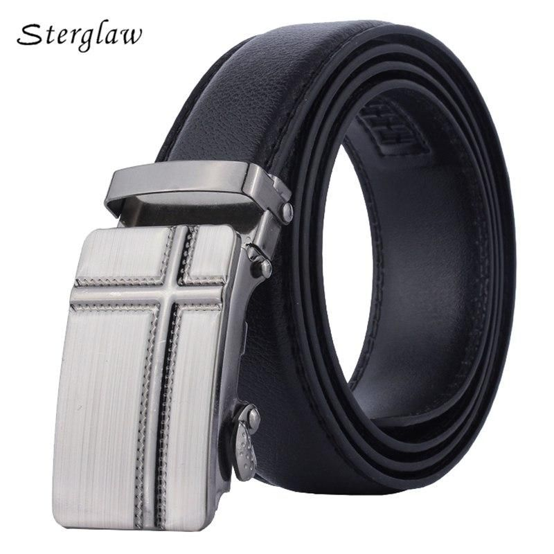 2018 Time Limited Fashion Male Brand Automatic Leather Belts For Men