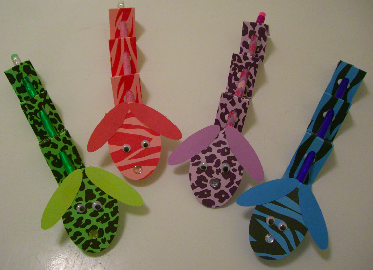 """Wild Pencil Pals! Just made an army of these for my kindergarteners for Valentines Day. Original credit goes to Nilakias @ Splitcoast Stampers for her """"Valentine Doxie""""  http://www.splitcoaststampers.com/gallery/photo/1620972?=14545=valentine's"""
