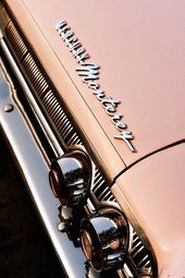 Items similar to Pink Mercury Monterey Classic Car – Car Art for Her – Chrome De…