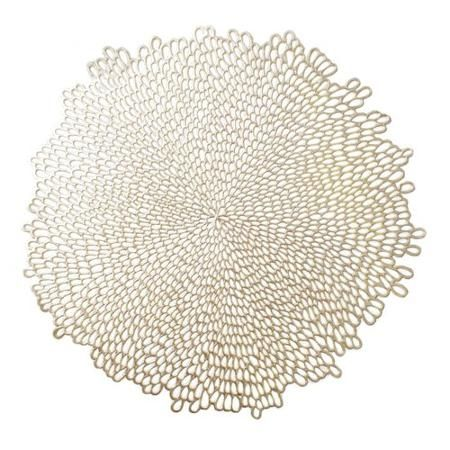 Mainstays Blossom Pressed Gold Vinyl Placemat Walmart Com Gold Vinyl Gold Placemats Placemats
