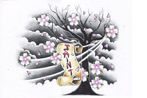 Sakura Tree Cherry Blossoms By Willemxsm Cherry Blossom Tattoo Japanese Tattoo Designs Cloud Tattoo