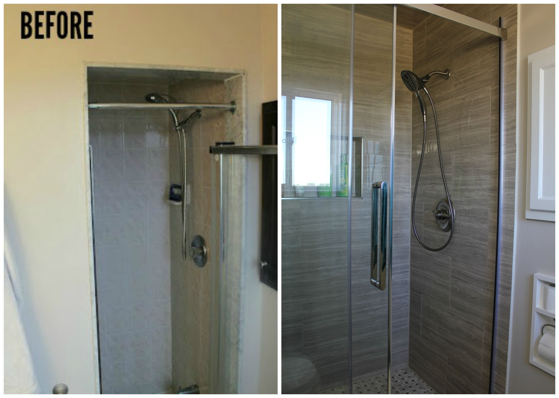 Ensuite Bathroom Renovation Tile Frameless Shower Dream House - Bathroom expansion before and after