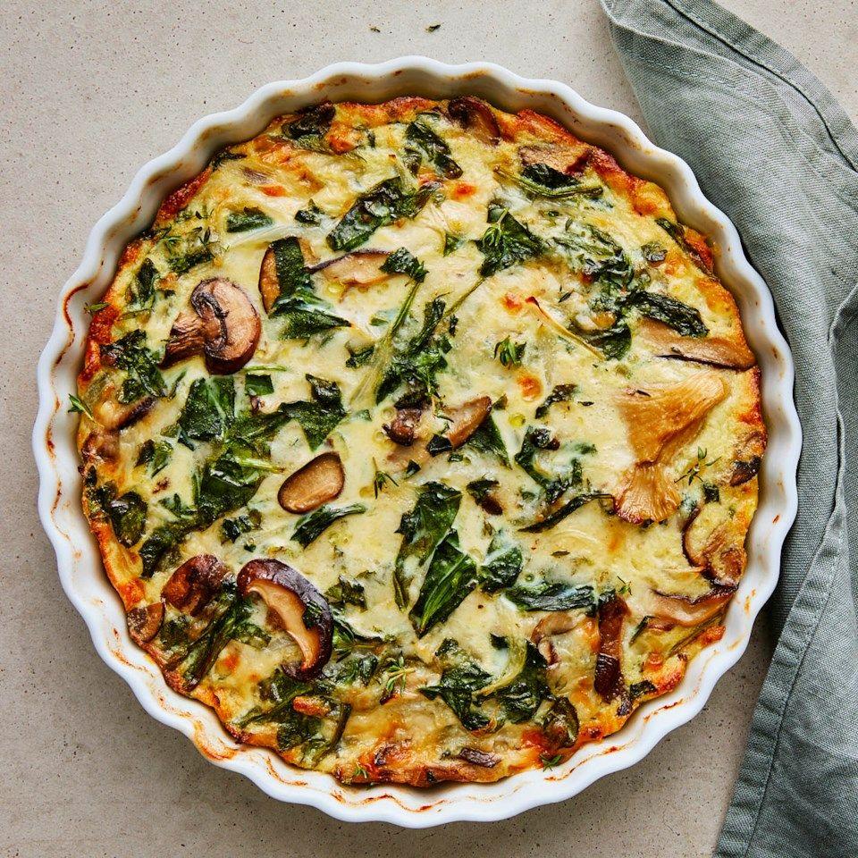Spinach & Mushroom Quiche -   18 healthy recipes Simple brunch food ideas