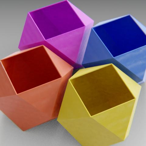 Diamond Shaped Planter Diamond Shapes Shapes 3d Printer Designs