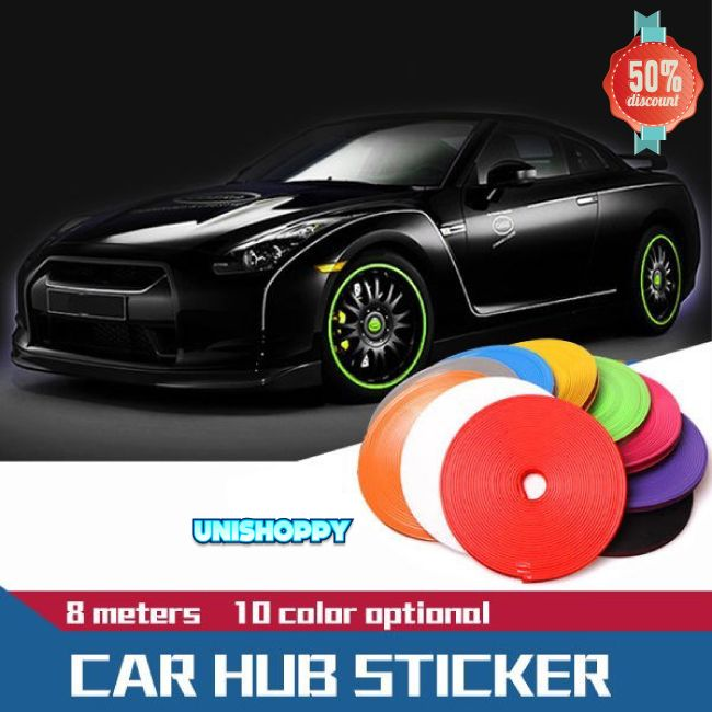 8m roll car wheel hub tire sticker make your car look awesome on spring
