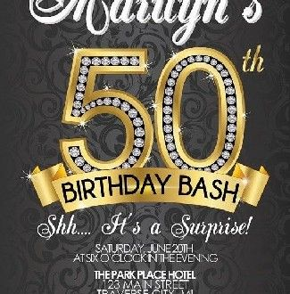 Invitation For A Glamorous Adult Birthday