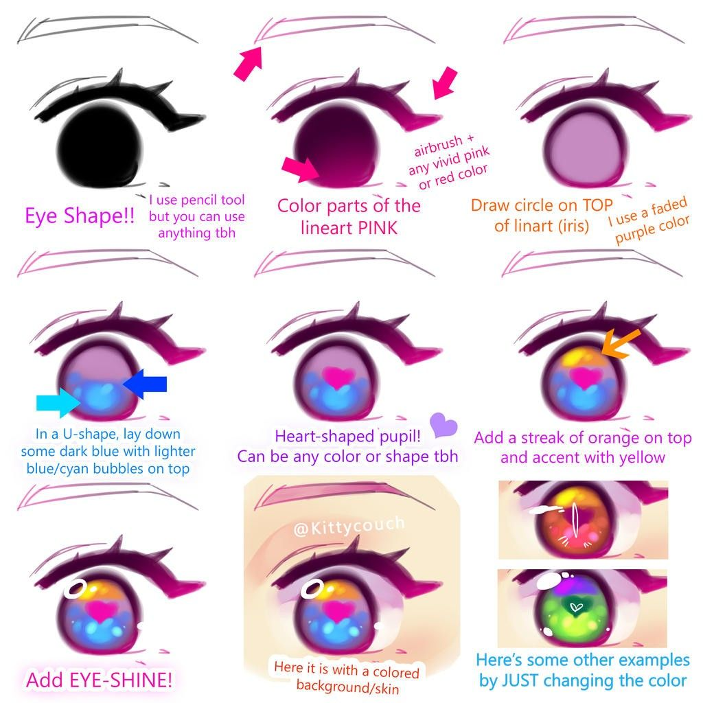 Anime Eyes Anime Eye Drawing Digital Art Tutorial Eye Drawing