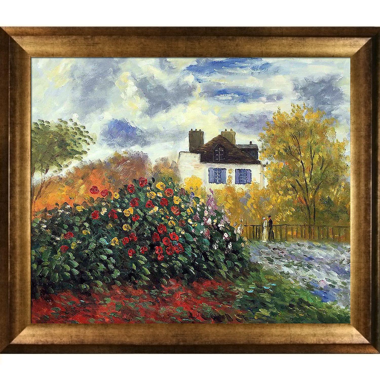 The Artists Garden by Monet Framed Print