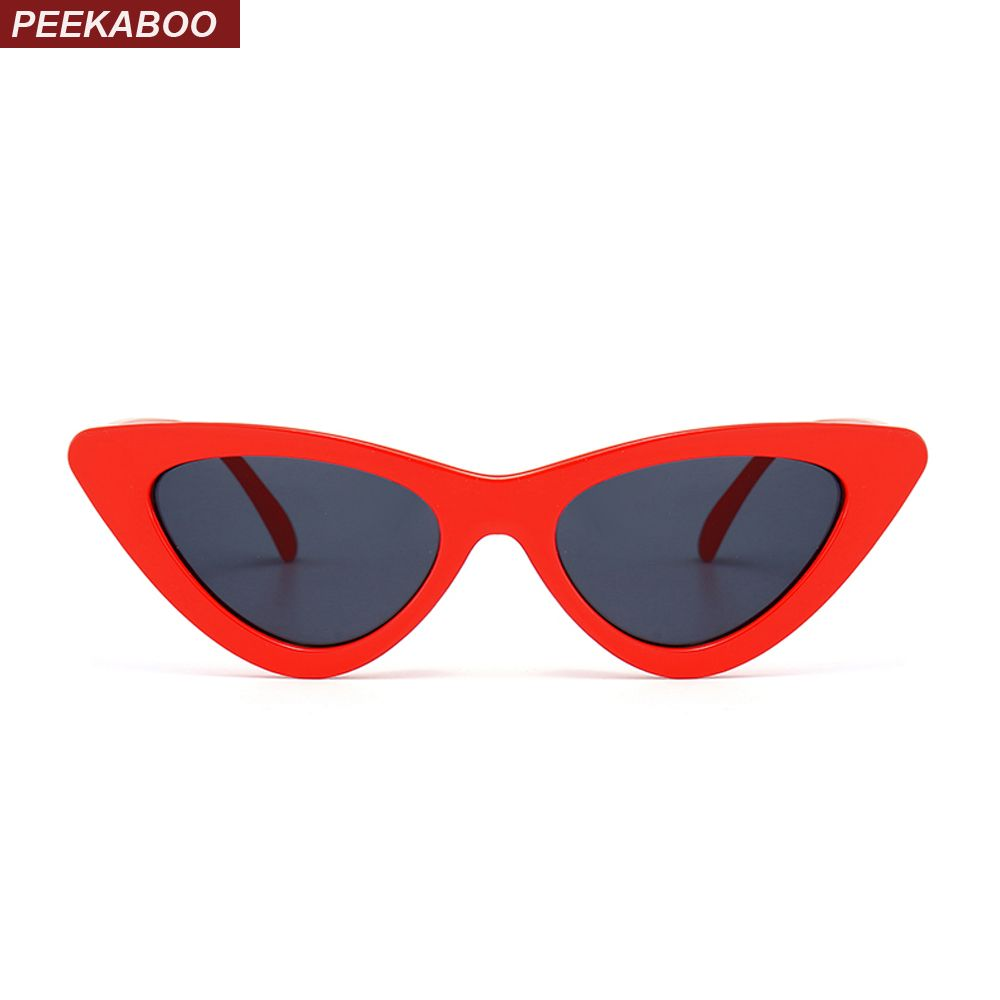 f1e9a889443f57 Kiekeboe leuke sexy retro cat eye zonnebril vrouwen kleine zwart wit 2018  driehoek vintage goedkope zonnebril rode vrouwelijke uv400