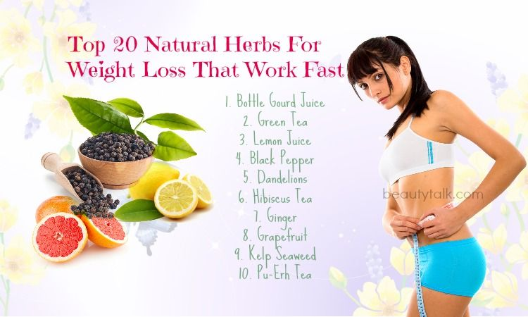 Top 20 Natural Herbs For Weight Loss That Work Fast