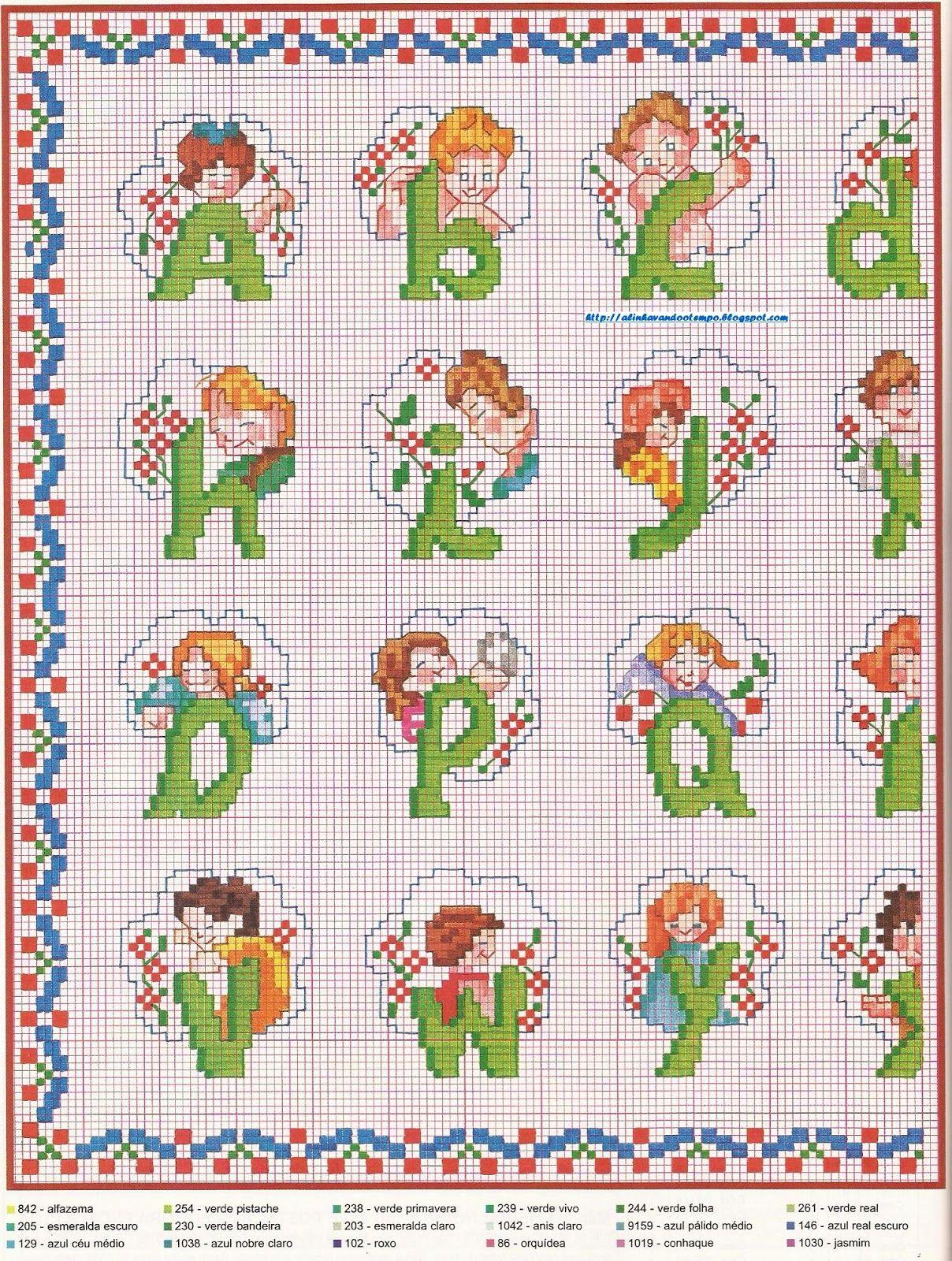 alinhavando o tempo: Alfabeto infantil
