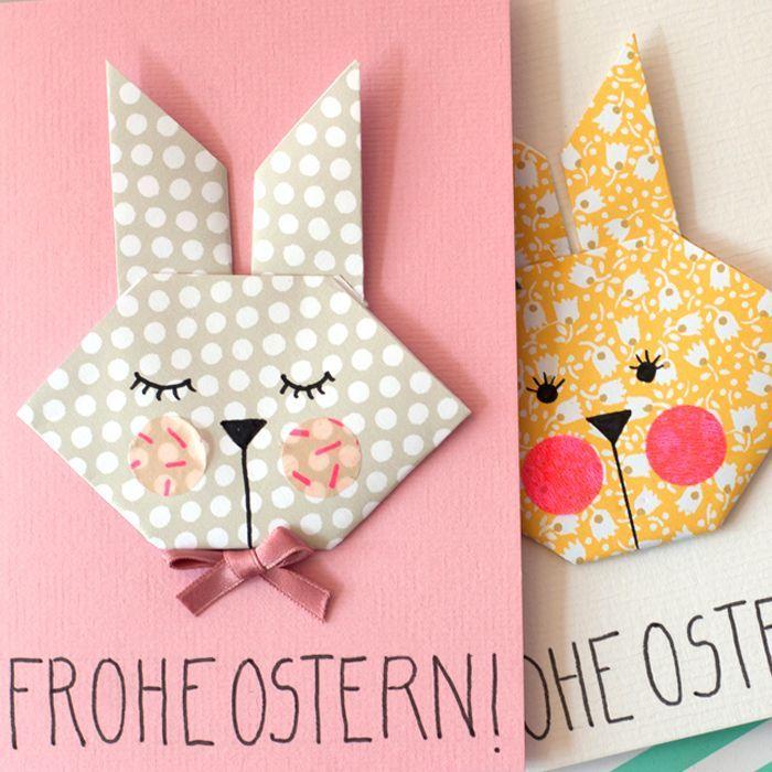 Photo of DIY Origami Osterhasen – als Anhänger oder Grusskarte