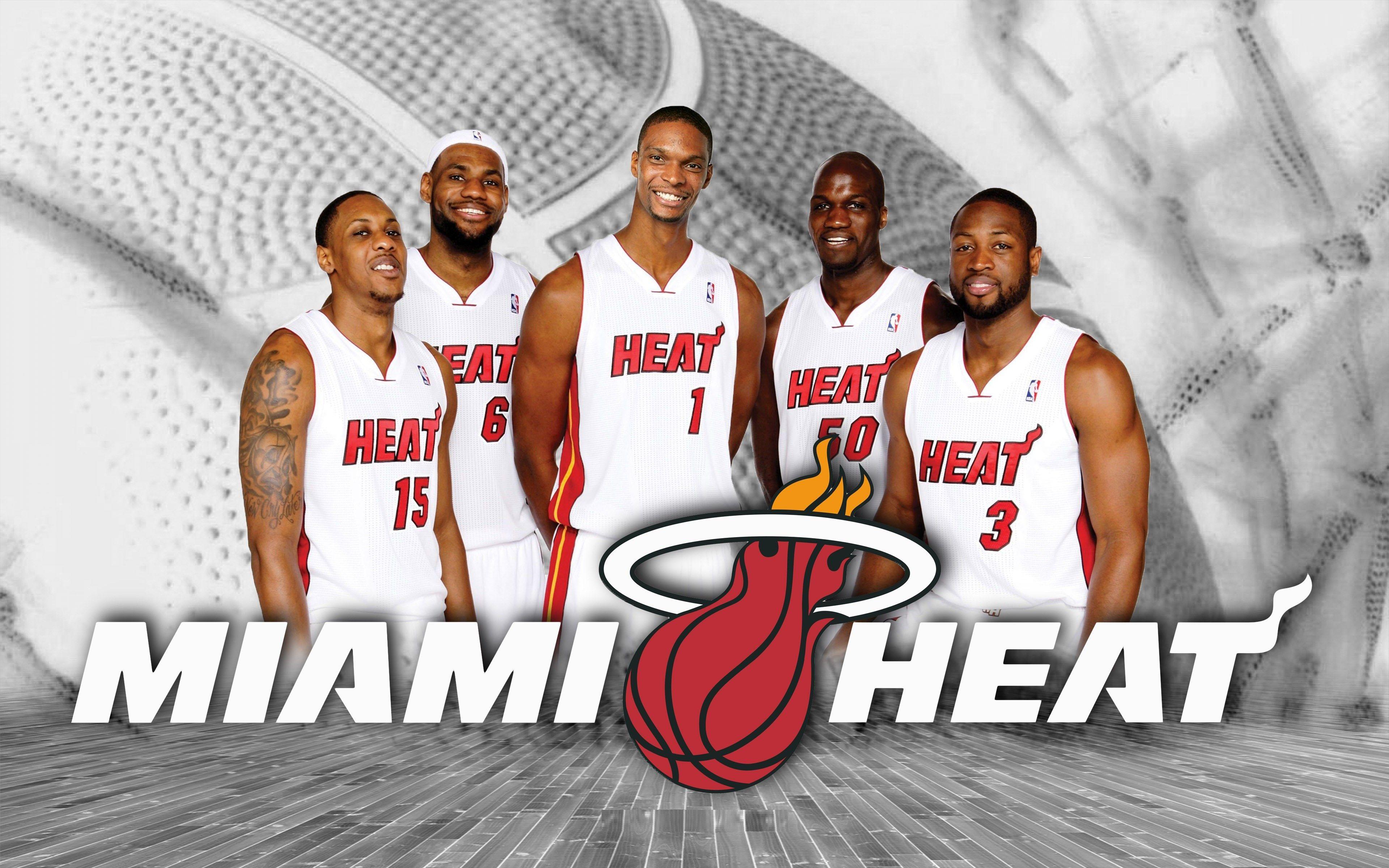 Miami Heat Starting Lineup Nba Wallpaper Nba Miami Heat Miami Heat Miami