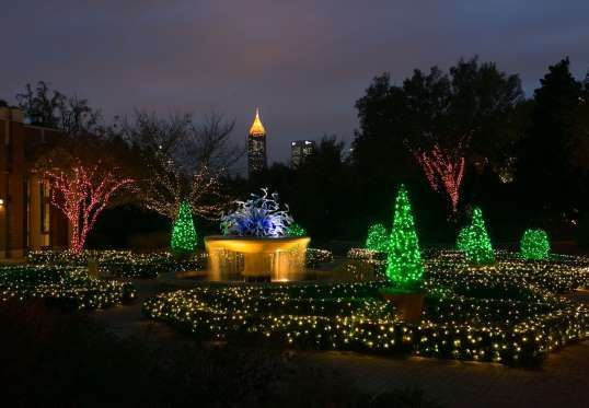 Millions of energy-efficient LED lights sparkle at the annual