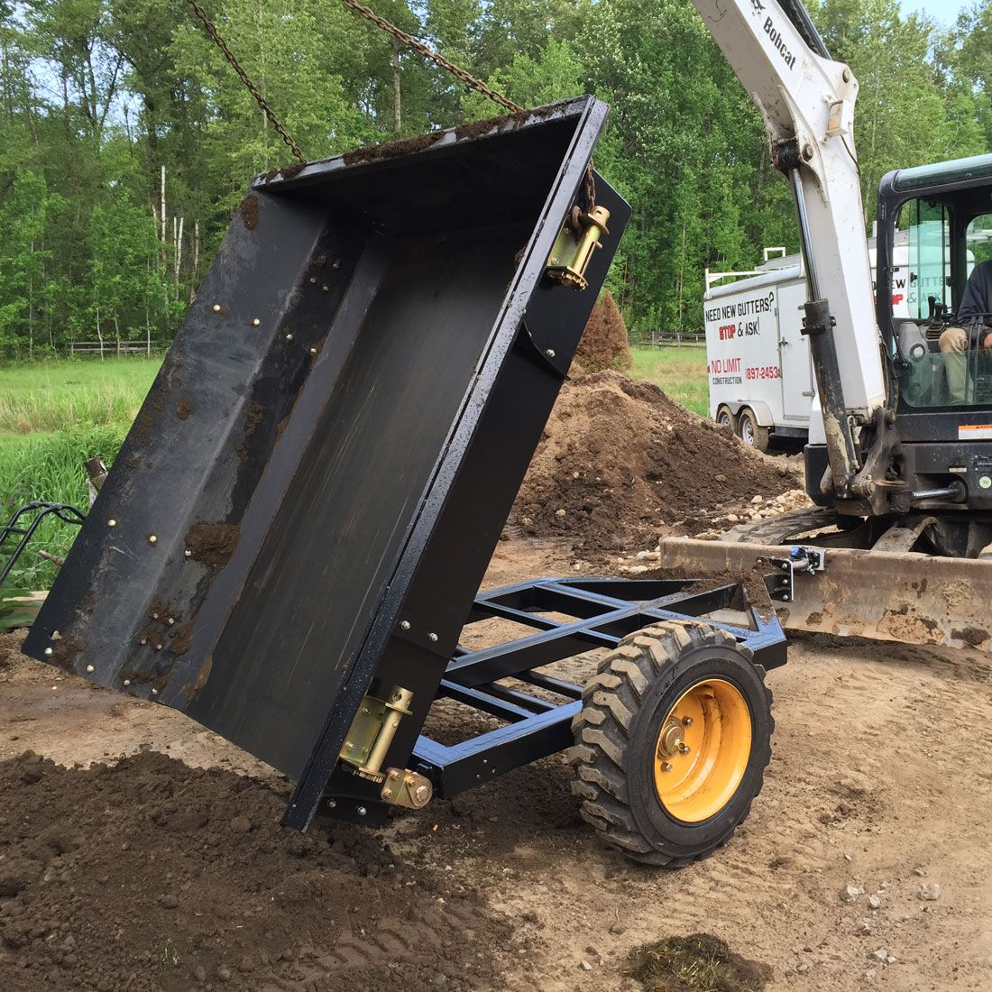Dump Trailer On Mini Excavator Blade In 2019