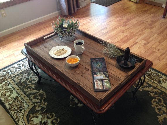 Rustic Wooden Ottoman Tray Pallet By Dunnrusticdesigns This Extra Large
