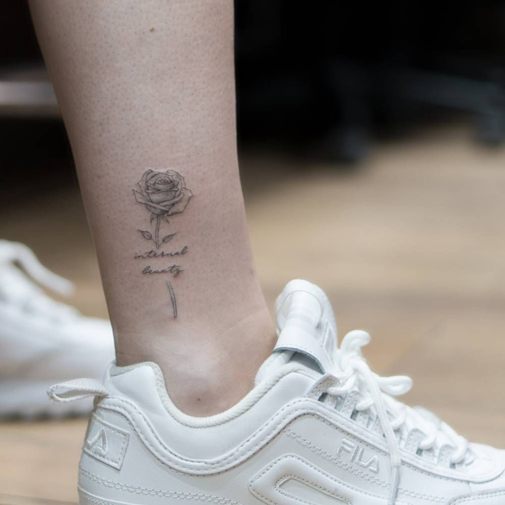 Small Small Tattoos Flower Tattoo On Ankle Ankle Tattoo Men
