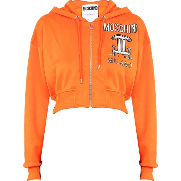 ddbbd6e7d3dc65 Moschino Printed hooded cotton sweatshirt with zip (12