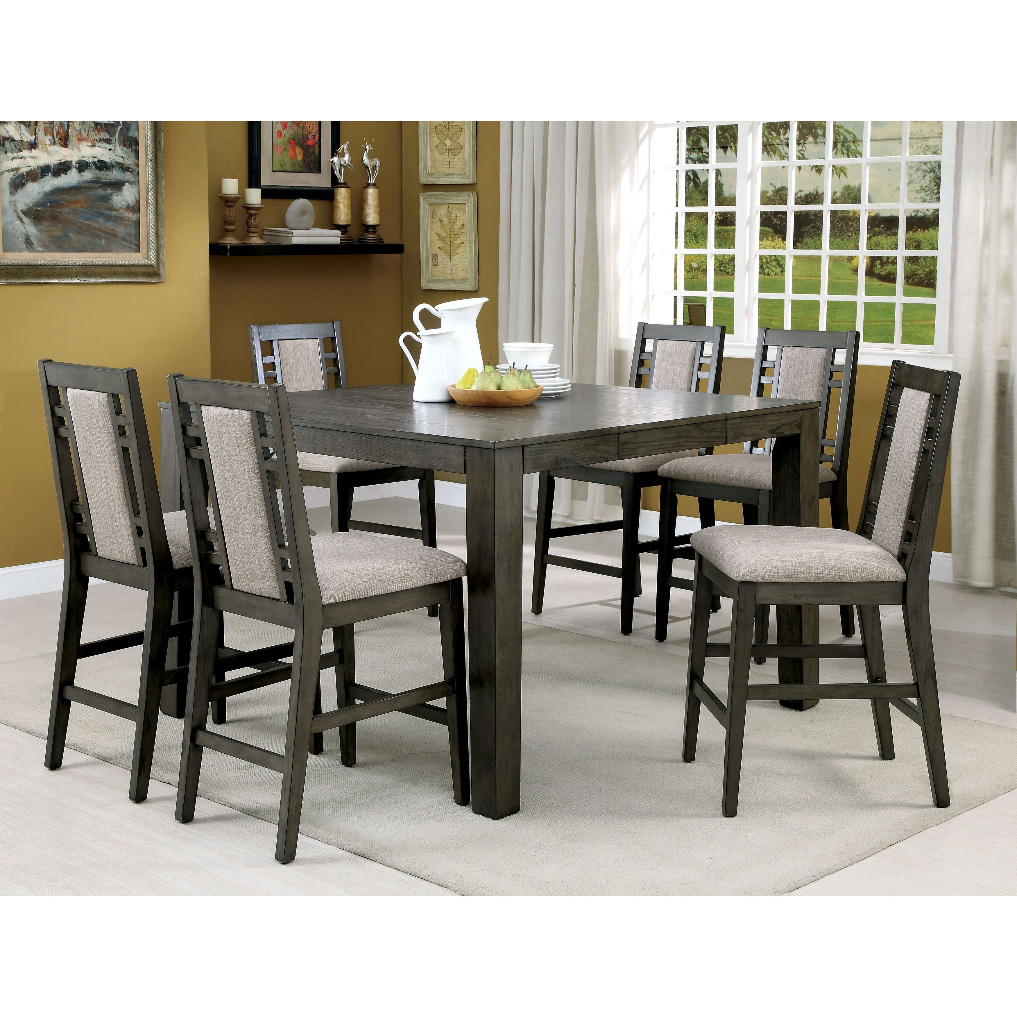 Furniture Of America Basson Rustic Expandable Counter Height Table