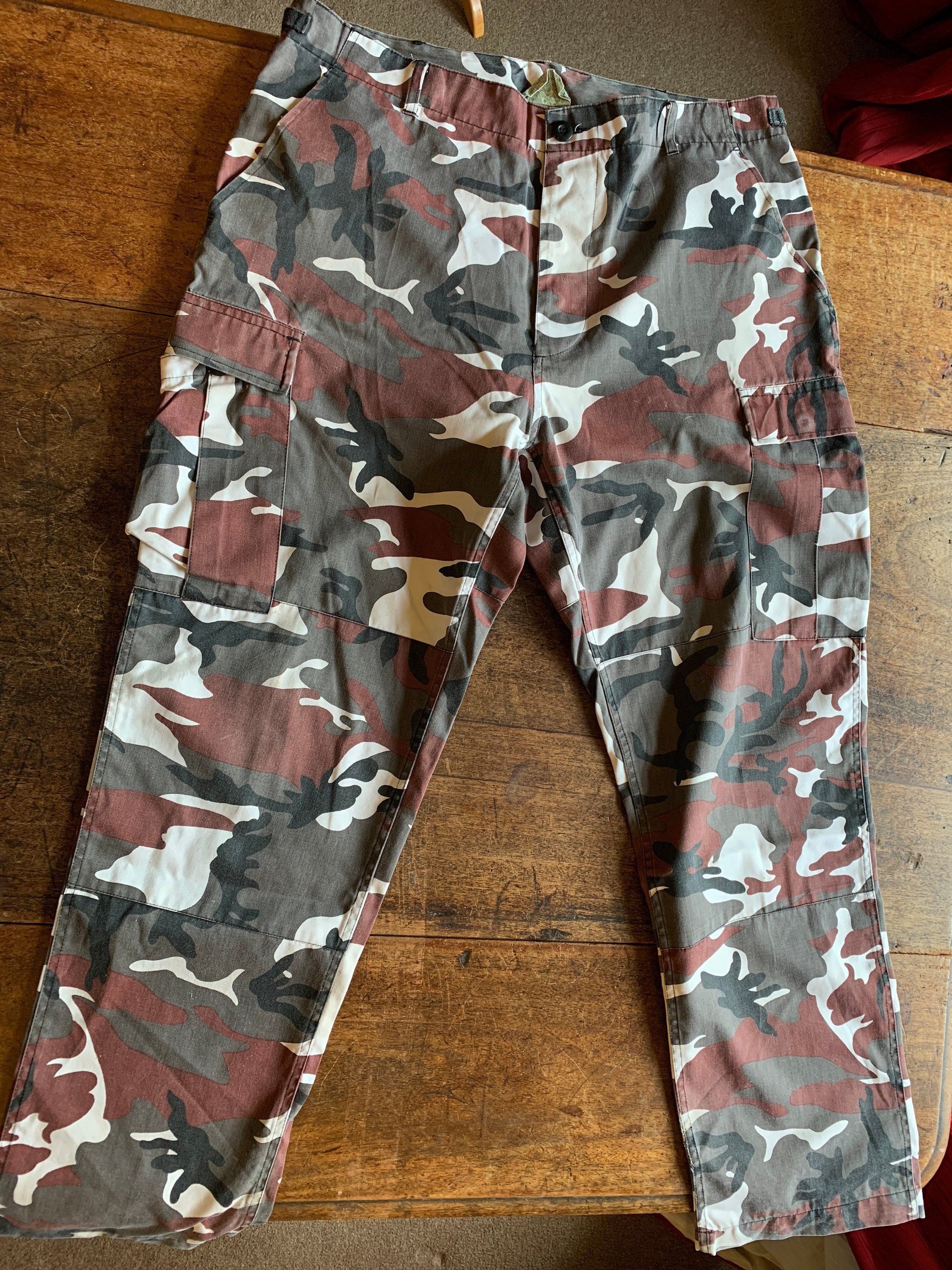 Us Army Surplus >> Us Army Surplus Camouflaged 36in Trousers Pants By Badpuppyvintage