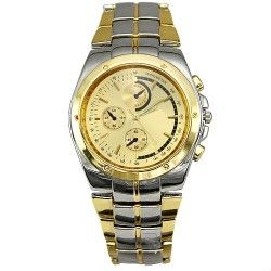 Men casual style watch, golden and silver colour.