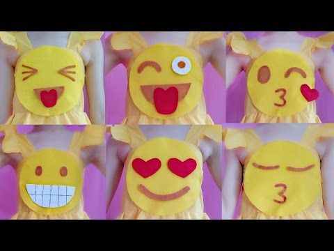 6cdb013998 DIY Changeable Emoji Dress Costume(Cute   Easy   Fun) - YouTube ...