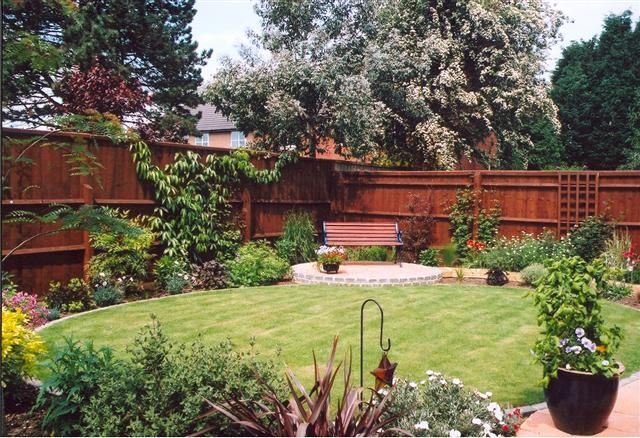 A Great Way To Make A Small Garden Look Bigger Is By Cutting The Lawn Into A Circular Shape A