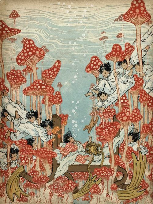 Yuko Shimizu's contribution to the book 'Little Nemo: Dream Another Dream', a tribute book to Little Nemo in Slumberland. Over 100 comic artists and illustrators contributed.