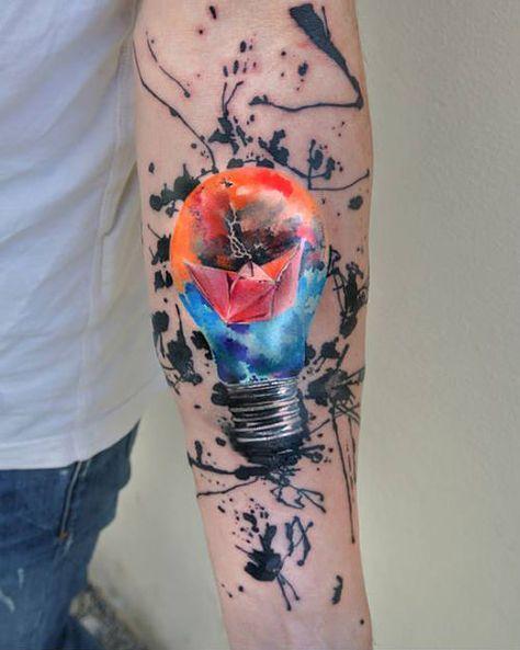 16 Tatuajes en acuarela para hombres