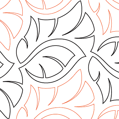 Banana Leaves - Digital | Long-arm quilt patterns | Pinterest