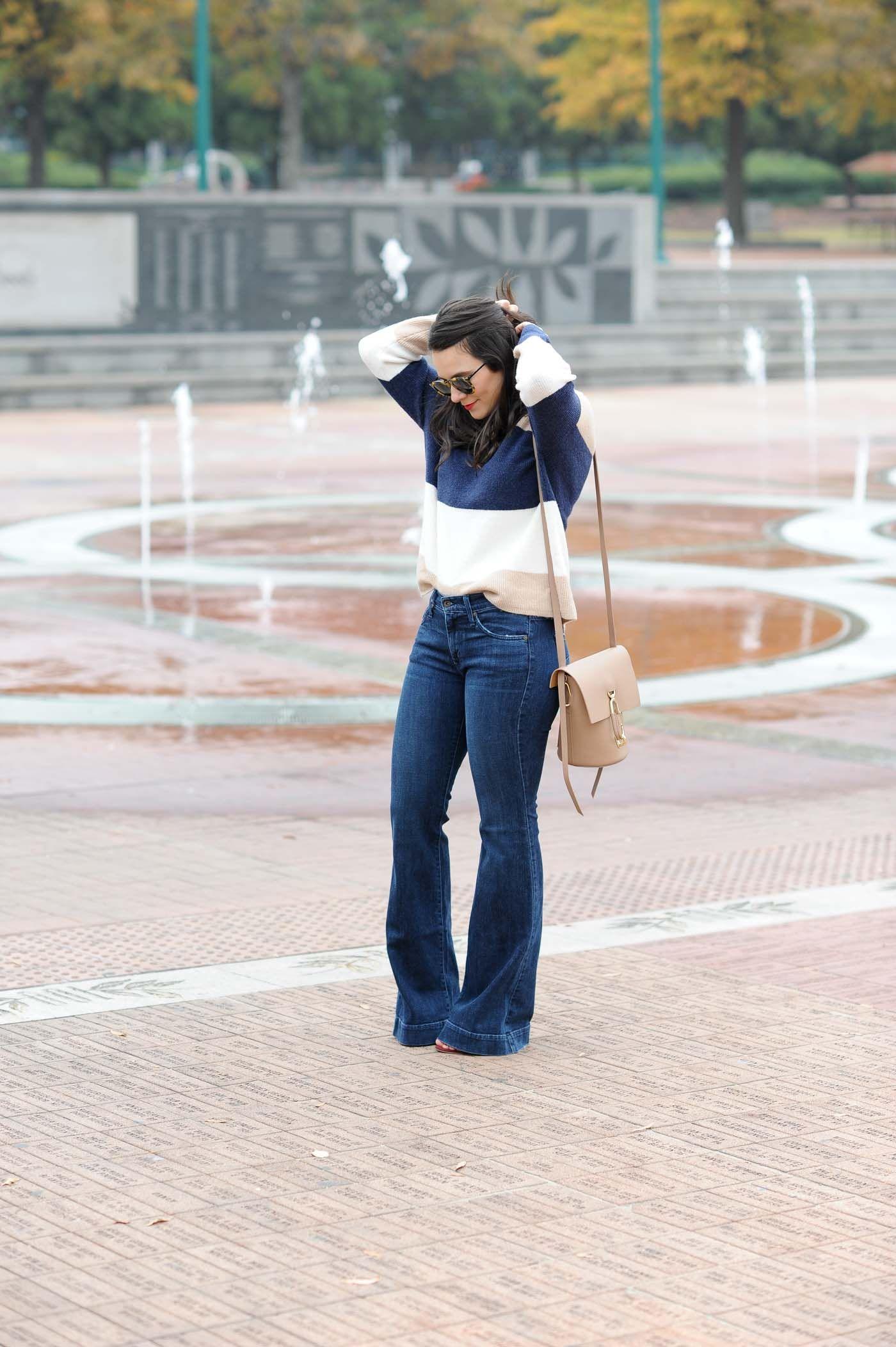 How to wide wear leg denim trousers