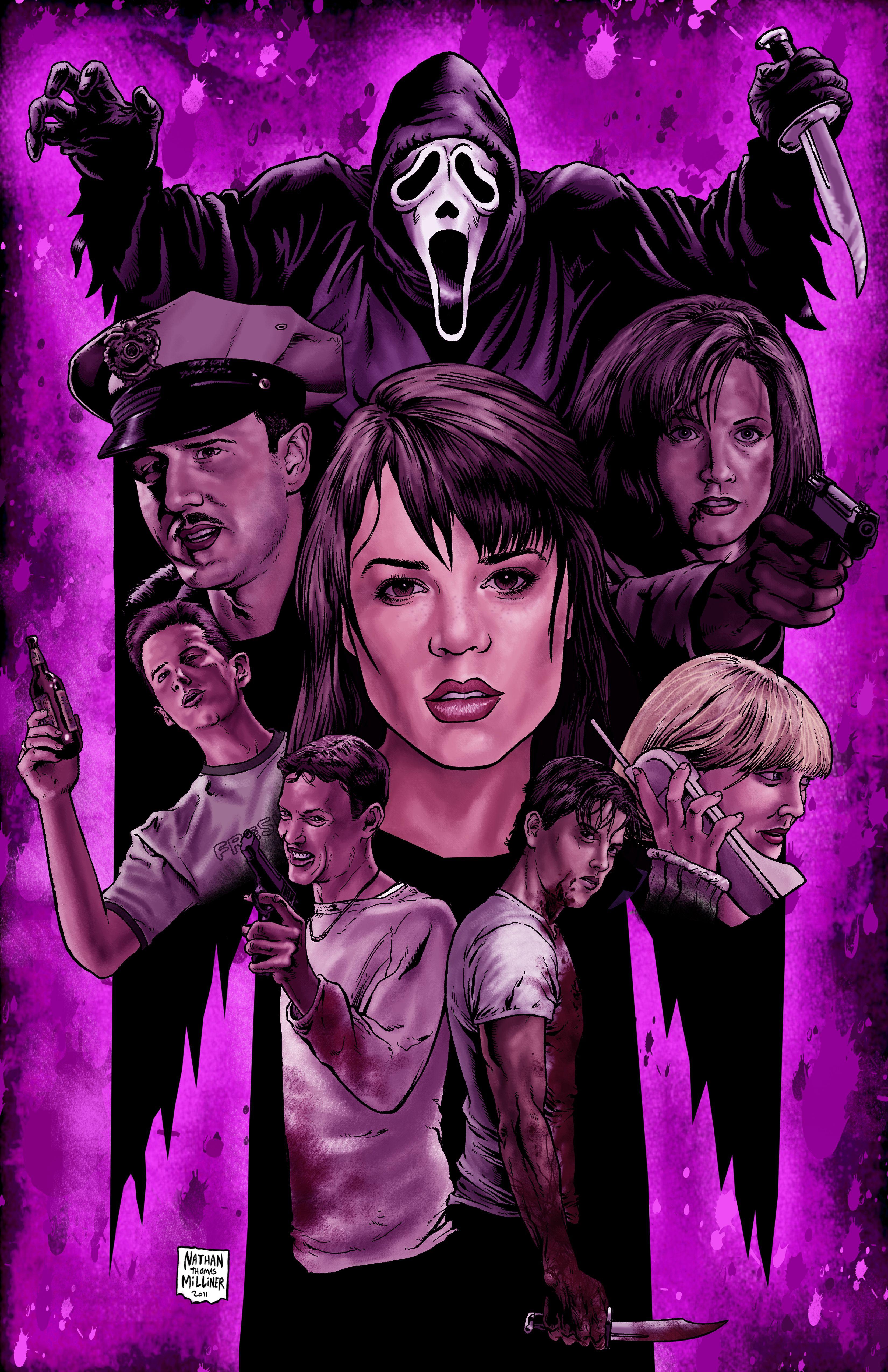 Pin by lan vo on 04 April 2018 Horror movie art, Scream