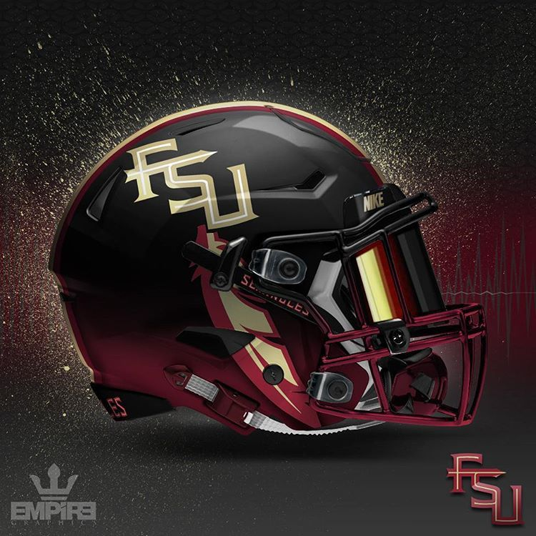 Empire Graphics On Instagram Florida State Seminoles Concept Helmet I Noticed I Was Getting A Lot Of Requ Fsu Football Noles Football Fsu Seminoles Football
