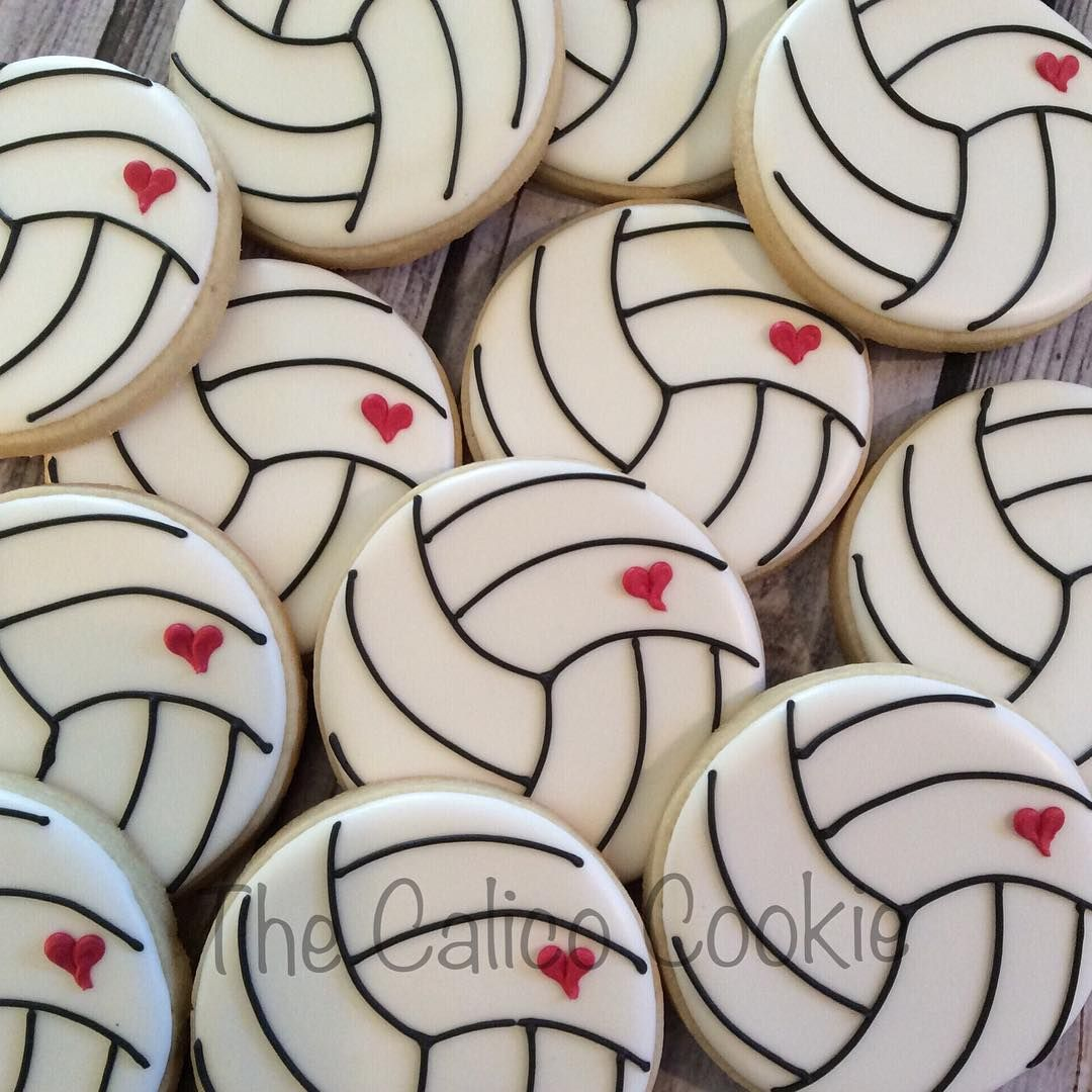 Jennifer Skaggs On Instagram Volleyball Season Again Good Luck Cookies For A Team Heading To Kentucky Volleyball Cookies Volleyball Cakes Volleyball Snacks