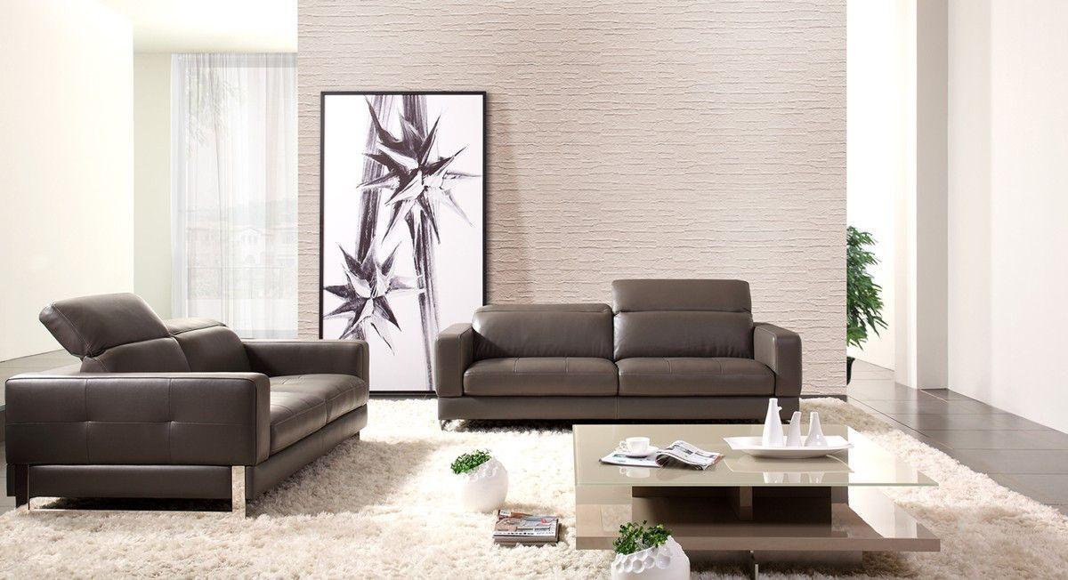 divani casa perth modern dark grey leather sofa set vgziwa s8004 dkgry - Modern Furniture Perth