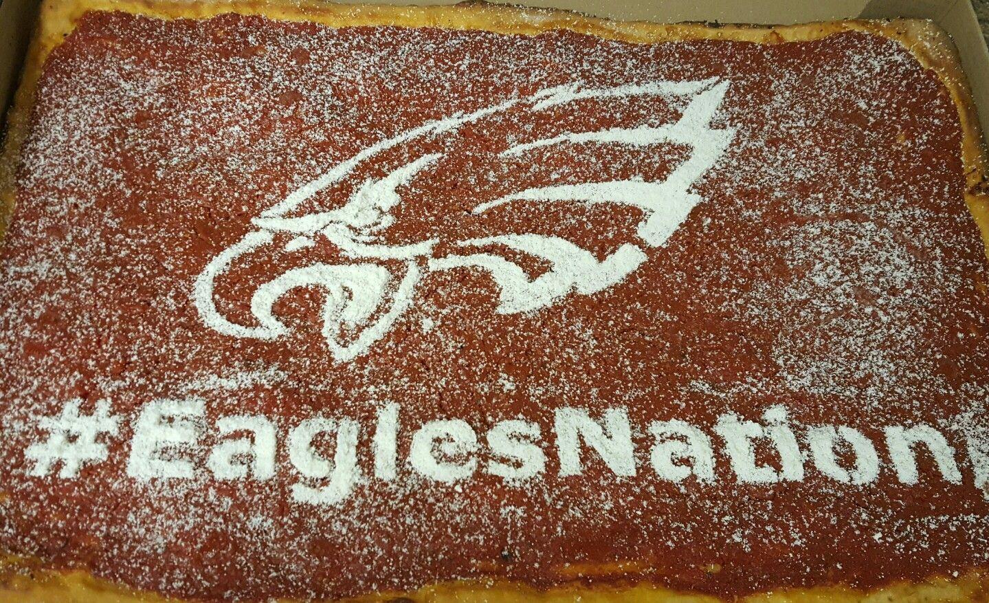 #EaglesNation Tomato Pie!!  #tomatopie #tailgating #Philly #Eagles