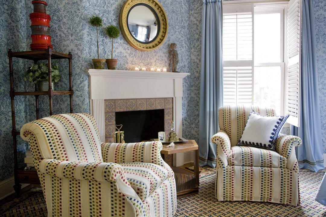 Sitting Area | Upholstered walls, Boston interior design ...