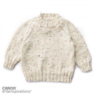 Childs Knit Crew Neck Pullover Cute Kids Knitting Pinterest