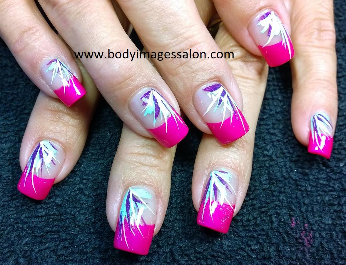 nail art; subtle nail art; French nail art; spring nail art; summer ...