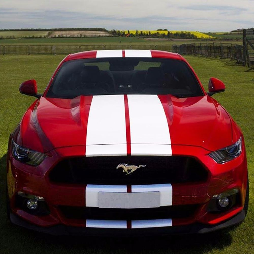 Decal Sticker Stripe Kit For Ford Mustang Gt Handle Trunk Bumper Splitter Guard Ford Mustang Mustang Cars Red Mustang [ 1000 x 1000 Pixel ]