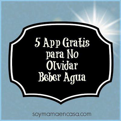 5 app gratis para recordar beber agua suficiente  #tipssaludables #saludable